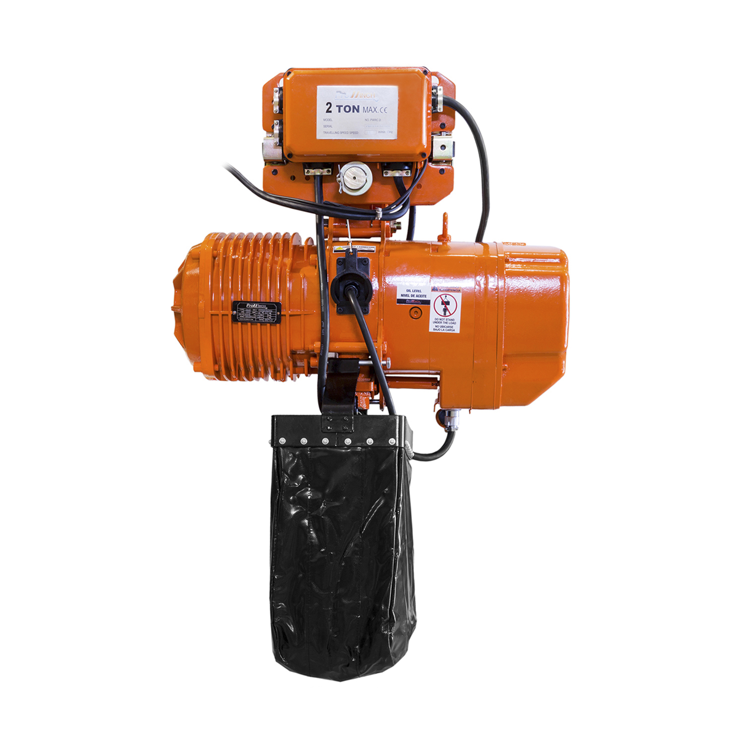 Prowinch 2 Ton Electric Chain Hoist with Electric Trolley Wireless 20ft Lifting Height G80 Chain Water Resistant Pendant Control M5//H4 Duty Cycle 3 Phase 240//460V