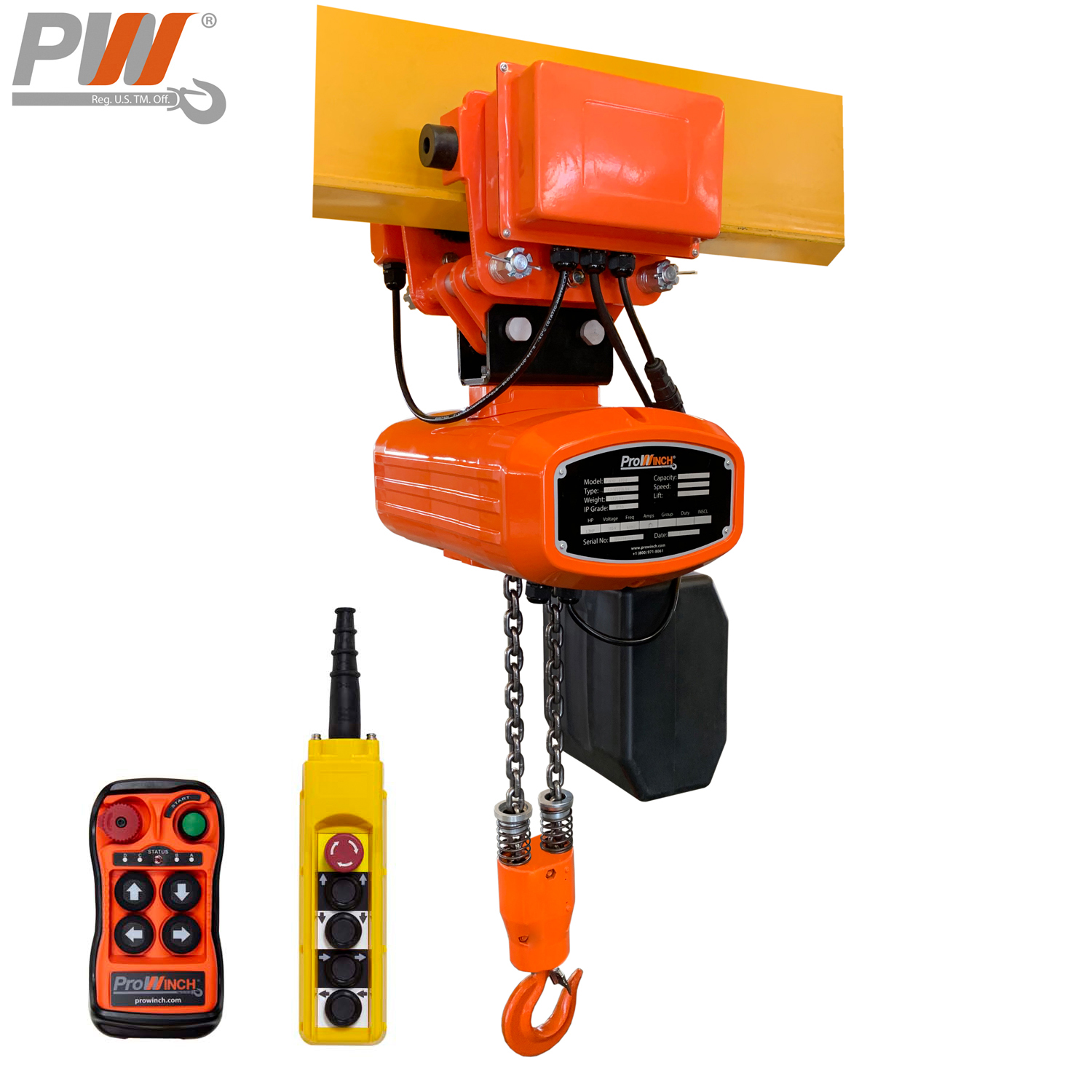 1000 Lb Electric Chain Hoist W Trolley Buffing Polishing Accessories Abrasive Finishing Products